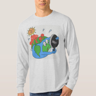 DreamySupply Global Warming Ash Grey Long Sleeve T-Shirt