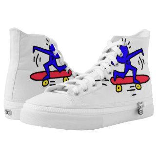 DreamySupply Pop Art SkateBoard Man High Top Shoes Printed Shoes