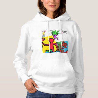 DreamySupply Womens Party Lifestyle Collage Hoodie