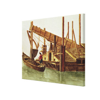 Dredging a canal gallery wrapped canvas