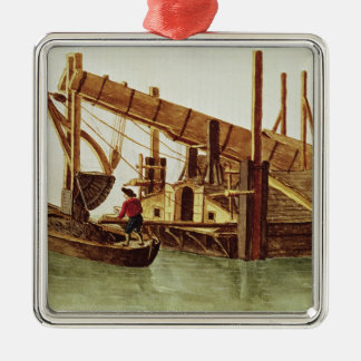 Dredging a canal christmas ornament