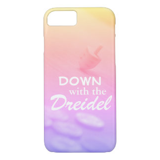 Dreidel Colorful Gradient with Funny Hanukkah Text iPhone 8/7 Case