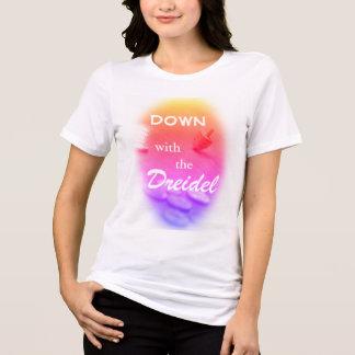 Dreidel Colorful Gradient with Funny Hanukkah Text T-Shirt