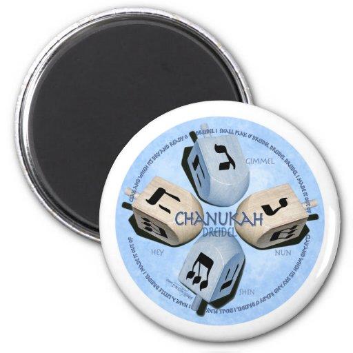 Dreidel Game - Happy Hannukah 6 Cm Round Magnet