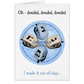 Dreidel Game - Happy Hannukah Greeting Card