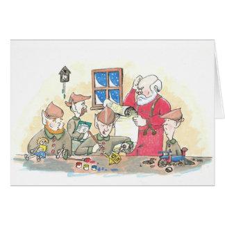 Dreidel in Santa's Workshp Greeting Cards