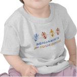 Dreidels 1st Hanukkah Personalised Baby Tee