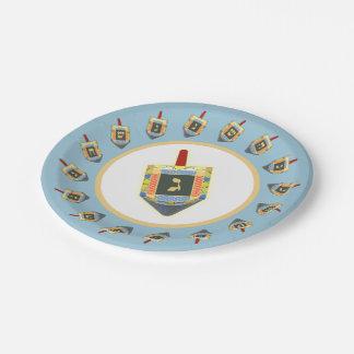 Dreidels Paper Plate