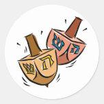 Dreidels Round Sticker
