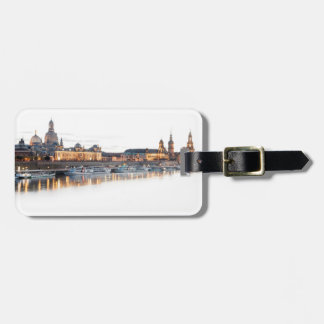 Dresden at night luggage tag