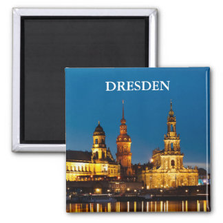 Dresden at Night Magnet