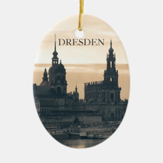 Dresden at Sunset Christmas Ornament