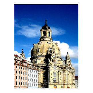dresden frauenkirche history and city postcard