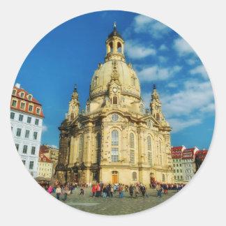 Dresden Frauenkirche Round Sticker