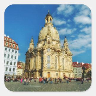 Dresden Frauenkirche Square Sticker
