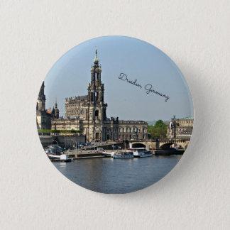 Dresden, Germany cityscape 6 Cm Round Badge