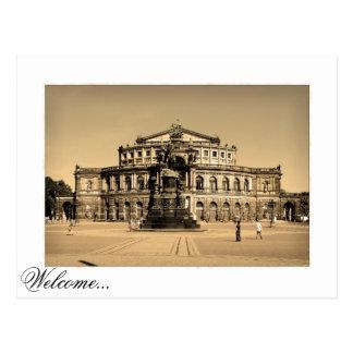 Dresden Semperopera at Theater Square Postcard