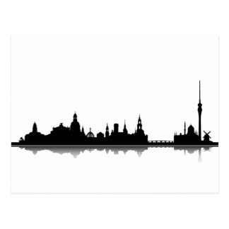 Dresden skyline - postcard/greeting map postcard