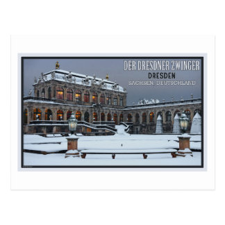 Dresden - Zwinger Palace Winter LS Postcard