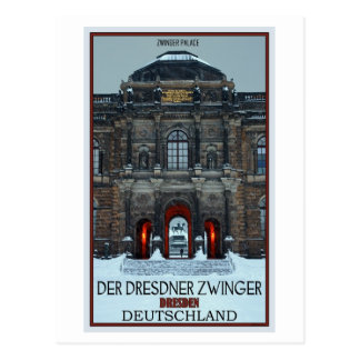 Dresden - Zwinger Palace Winter P Postcard