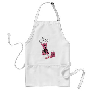 DRess Bag and Shoes in Pink Aprons