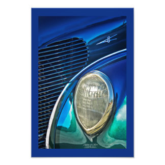 Dress Blues Classic Car Photograph