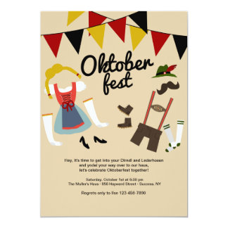 Dress for Oktoberfest Invitation