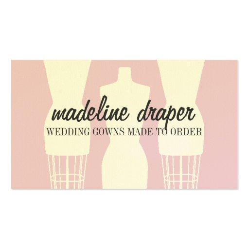 Dress Form Fashion Designer Business Card Template