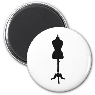 Dress Form Silhouette II Refrigerator Magnet