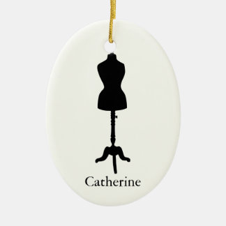 Dress Form Silhouette II - Personalize It Christmas Ornament