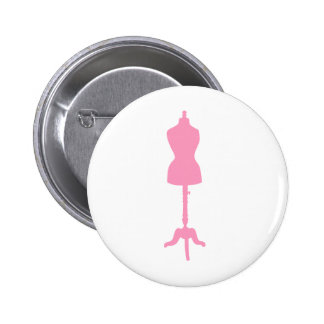 Dress Form Silhouette II - Pink 6 Cm Round Badge