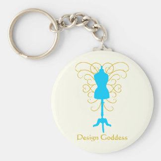 Dress Form with Swirls - Design Goddess Key Ring