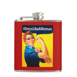 Dress Like a Woman Hip Flask