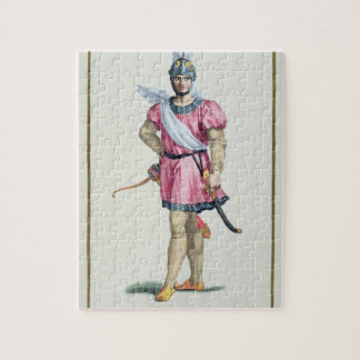 Dress of a Norman Soldier from 'Receuil des Estamp Jigsaw Puzzle