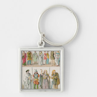 Dress of the Britons Gauls and Germans Keychains