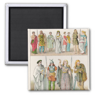 Dress of the Britons, Gauls and Germans Magnet