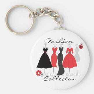 Dress Shop-Daisy Theme Basic Round Button Key Ring