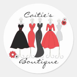 Dress Shop-Daisy Theme Round Sticker