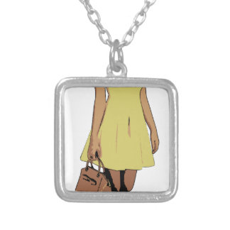 dress silver plated necklace