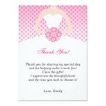 Dress Thank You Card Pink Pola Dots 13 Cm X 18 Cm Invitation Card