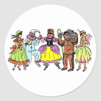 Dress Up Ball Classic Round Sticker