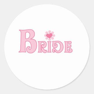Dress Up Bride Round Sticker