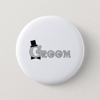 Dress Up Groom 6 Cm Round Badge