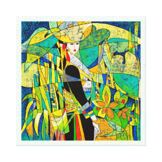 Dress Up Ping Hao oriental abstract painting art Canvas Print