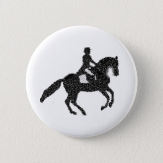 Dressage Button - Mosaic Horse and Rider