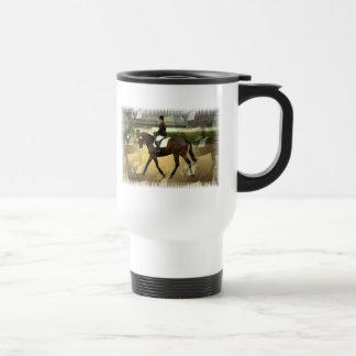 Dressage Competition Plastic Travel Mug