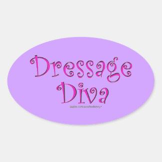 Dressage Diva Oval Sticker