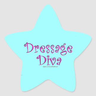 Dressage Diva Star Sticker
