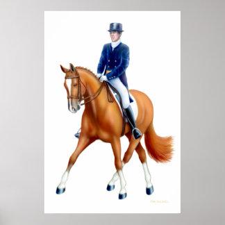 Dressage Half Pass Equestrian Print