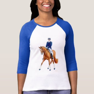 Dressage Half Pass Ladies Raglan Jersey T-Shirt